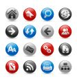 web navigation icons vector image vector image