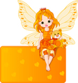 fairy with teddy bear vector image