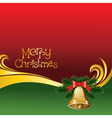 2012 christmas card with jingle bells vector image vector image