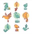 birds logo vector image