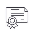 certificatediploma line icon sign vector image