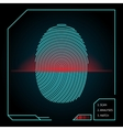 Fingerprint scanning and identification vector image