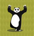 Panda meditating Chinese bear on background of vector image