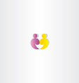 people logo partner icon vector image