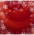red christmas snow background vector image
