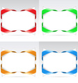set of blanks with ribbon vector image