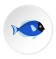 Surgeon fish icon flat style vector image