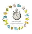Time management round design vector image