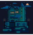 TownHouse Night vector image
