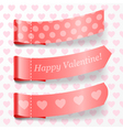 Attach valentine ribbons vector image