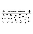 animals silhouettes no animals no people vector image