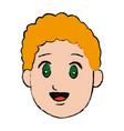 Boy cartoon smiling child face vector image