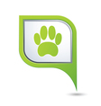 animal footstep GREEN pointer vector image