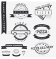 Pizza delivery The food and service Set of vector image
