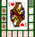 Playing cards of Hearts suit vector image