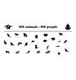 animals silhouettes no animals no people vector image