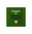 appliance emergency exit vector image