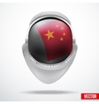 Astronaut helmet with flag China vector image