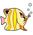 cartoon aquarium fish vector image