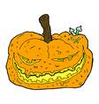 comic cartoon halloween pumpkin vector image