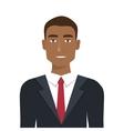 elegant businessman isolated icon design vector image