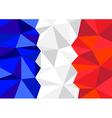 France Flag Polygon vector image