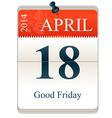 Good Friday 2014 vector image