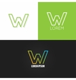 letter W logo alphabet design icon set background vector image