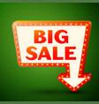 retro billboard with inscription big sale vector image