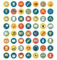 School icons flat design set vector image