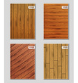 Set of covers with wooden texture vector image
