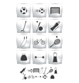 set icons Sport and soccer vector image vector image