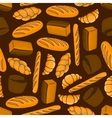 Bread bakery products seamless background vector image vector image
