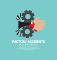 factory accidents concept vector image