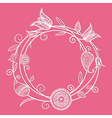 Flower circle doodle vector image