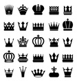 crown icons set vector image vector image