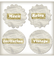 crumpled paper icons place for your text vector image vector image