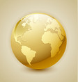 Golden Earth icon vector image vector image