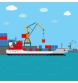 Cargo ship Freight shipping by water vector image
