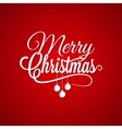 Christmas Logo Lettering On Red Background vector image