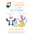 design template of invitation to kids party vector image