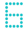 digital number six 6 display board round dot vector image