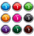 hotel key set 9 collection vector image