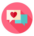 Love Messages with Heart Circle Icon vector image