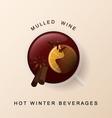 Mulled wine Christmas spices Cinnamon orange vector image