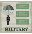 paratrooper military infographics background vector image