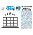 Hotel Stars Icon with 1000 Medical Business vector image