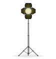 movie floodlight vector image vector image