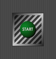 Green button with the word start vector image