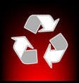 Recycle logo concept postage stamp or old photo vector image